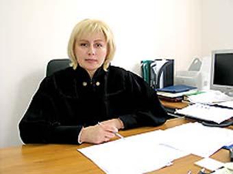 Ольга Крамаренко на работе (в суде)