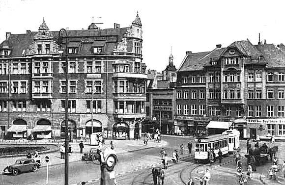 Начало Французской улицы в Кёнигсберге, 1930 год