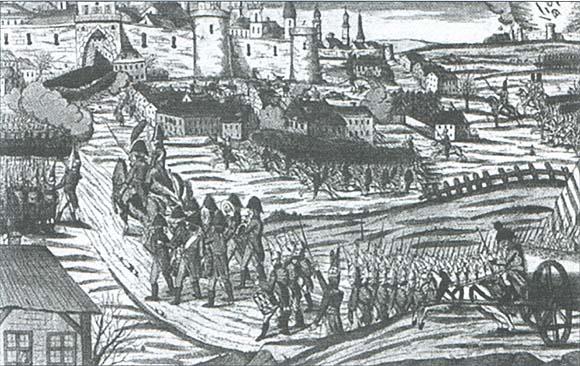 Вступление русской армии в Кенигсберг, январь 1813 года