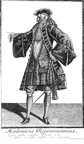 Кёнигсбергский студент на рисунке XVIII века