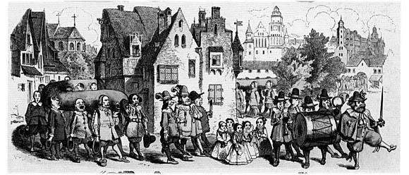 Подготовка и проведение в XVI веке в Кёнигсберге праздника длинной колбасы на гравюре Николауса Книллинга