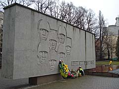 Мемориал и Вечный огонь на ул. Комсомольской - солдатам, павшим при штурме Кёнигсберга