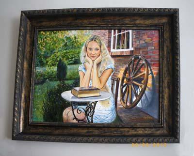 "Картина ""Жена Козлова"", 2009 год, Геннадий Саблин, холст, масло, 70 х 48 см"