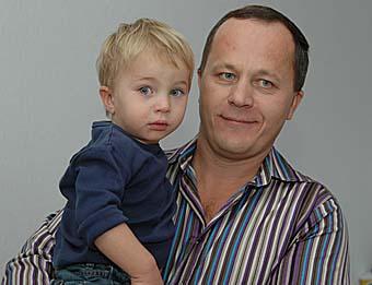 Виктор Посаднев с сыном