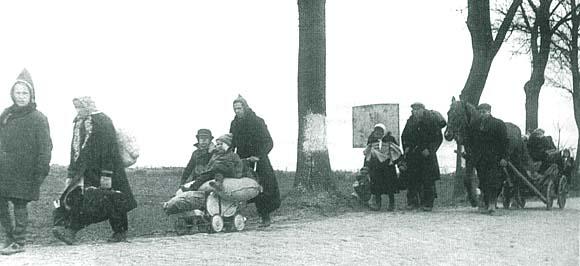 Кёнигсбергские беженцы, 1945 год