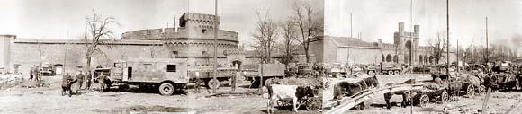 """Кёнигсберг, башня """"Дона"""" и Росгартенские ворота. Апрель 1945 года"""