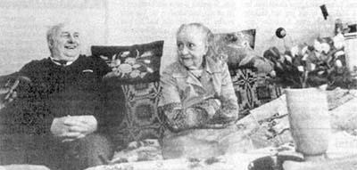 Бруно Суткус с женой Антониной Повелайтис, 1990 год