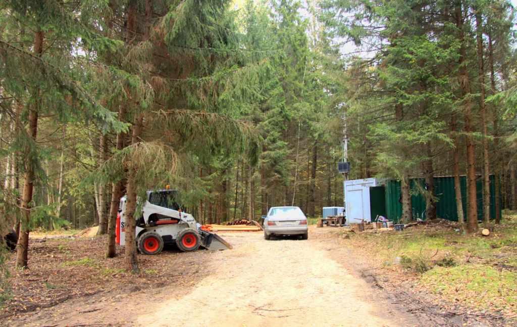 Виштынецкий парк строительные работы