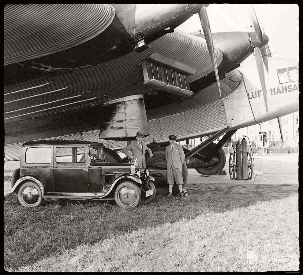 Кёнигсберг самолёт Люфтганза аэродром Девау 1930 год