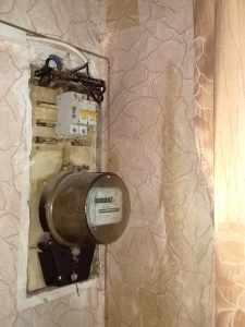 электросчётчик заливает вода