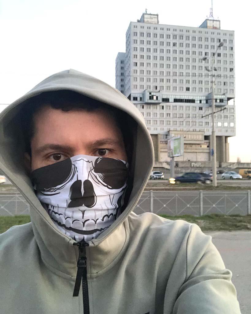 губернатор Алиханов в маске Смерти