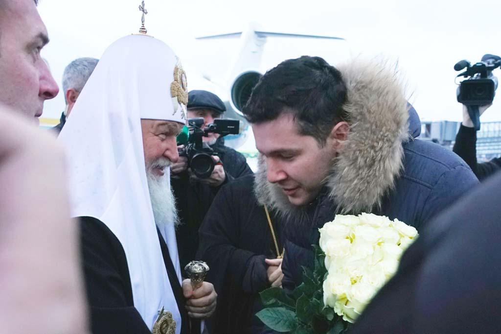 Патриарх Кирилл и губернатор Алиханов Калининград