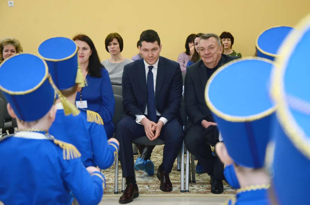 губернатор Алиханов в детском саду