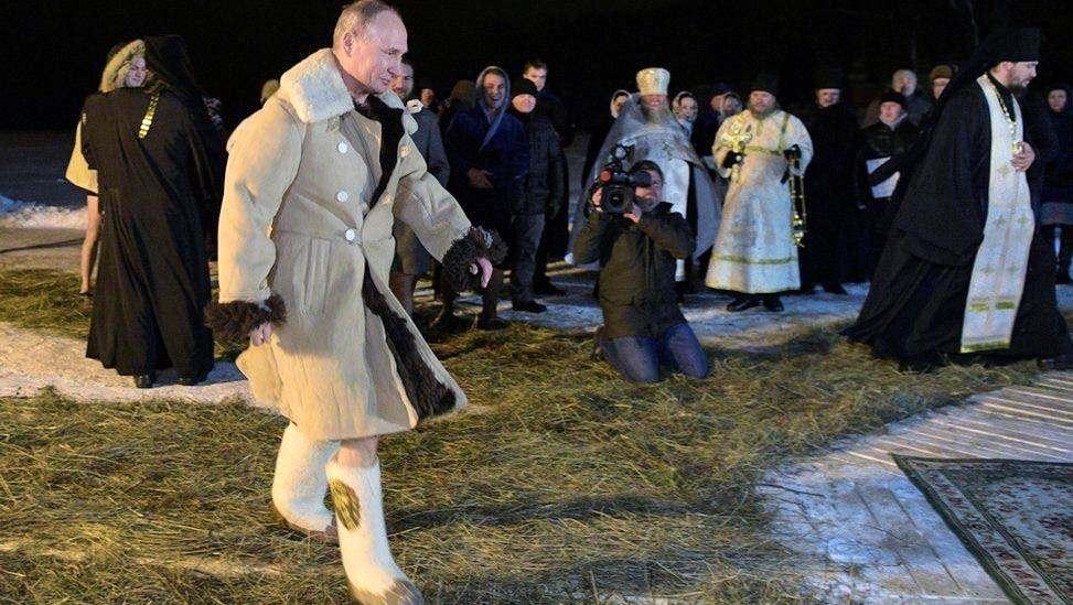 Путин идёт в прорубь