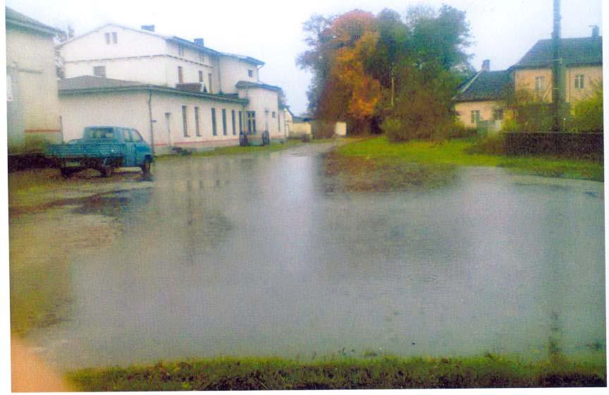станция Междуречье Черняховский район (Норкиттен) вокзал лужа