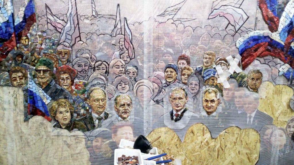 Мозаика в главном храме ВС РФ: Сталин, Путин, Шойгу, Матвиенко, Володин, Патрушев, Бортников