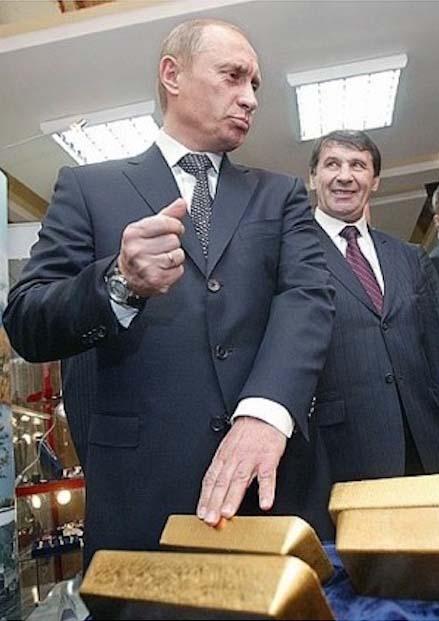 Путин золото часы