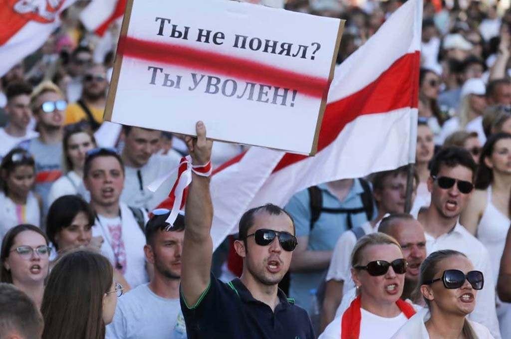 """""""Ты не понял? Ты уволен!"""" Минск митинг против Лукашенко 16 августа"""