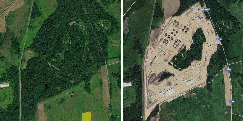 вырубили лес возле посёлка Зеленый Гай в Зеленоградском районе Калининградской области